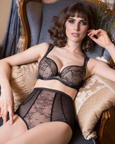 c385b7e6ded Check out the deal on LAVINIA SOFIA LACE OVERLAY HIGH WAIST BRIEF (LL0236)  at. Lavinia Lingerie
