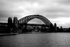 The Sydney Harbour Bridge - beautiful in black and white.