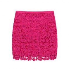 $14.46 Slim Fit Flower Pattern Elegant Solid Color Skirt For Women