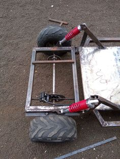 Suspensión idea Build A Go Kart, Diy Go Kart, Mini Jeep, Mini Bike, Karting, Mini Kart, Fusca Cross, Mini Buggy, Go Kart Designs