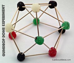 """weblos scientist Science Pin requirement 6 is """"Build models of two atoms and two molecules, using plastic foam balls or other objects."""""""