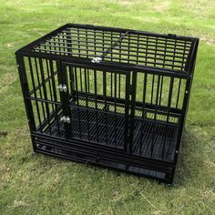 Heavy Duty Strong Metal Pet Crate w/Wheels       >>>>> Buy it now    http://amzn.to/2cxApyC