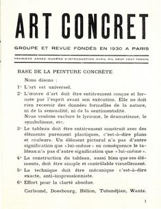 Art Concret Manifesto