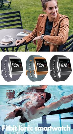 The high-tech retro-futuristic GPS smartwatch Fitbit Ionic is popular among its users. Read what I think about it here. Fitness Gadgets, Retro Futuristic, Fitness Gifts, Fitness Tracker, Smartwatch, Fitbit, Tech, Popular, Running