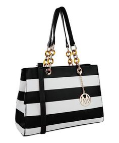 MKF Collection Black & White Clementine Tote   zulily