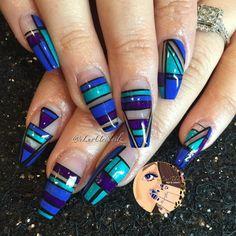 Acrylic nails by Sonia @ Nailbar Touch Spa & Salon in Kissimmee, Florida Source: Fabulous Nails, Gorgeous Nails, Pretty Nails, Beautiful Nail Designs, Beautiful Nail Art, Nailart, Garra, Nail Polish Art, Crazy Nails