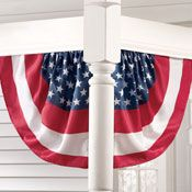 Set of 2 Corner Patriotic Flag House Buntings