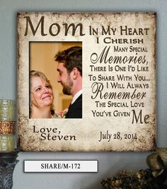 Mother of the Bride Gift Mother in Law Gift by PhotoFrameCompany