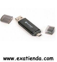Ya disponible Memoria USB y micro USB 2.0 platinet 16gb           (por sólo 11.95 € IVA incluído):   - USB Pen Drive Platinet Rapido, duradero y fiable - Con la novedad de lectura pormicro-USB, funciona perfectamente con tablets bajo sistema operativo Android, Windows 8 y equipados con puerto de entrada micro-USB. - Chasis de Aluminio provee la maxima durabilidad y seguridad para sus datos. - Deteccion automatica sin necesidad de instalacion de drivers adicionales. - Cons
