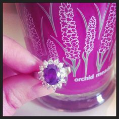 """""""I couldn't resist"""" -- Looks like she had to dig out her ring out of this Diamond Candle! $24.95"""