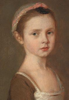 Thomas Gainsborough. Miss Susanna Gardiner, 18th Century.