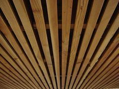 Wood Slat Solution for Basement Ceiling. Yup easiest and nicest solution to my basement ceiling.