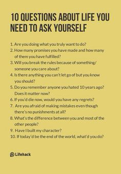 10 questions about life you need to ask yourself