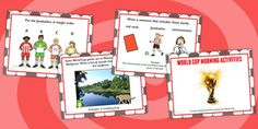 World Cup Morning Activities PowerPoint - football, sport - twinkl Morning Activities, World Cup, Little Ones, Something To Do, Football, Sport, Learning, Children, Soccer