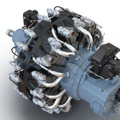 Radial Engine, Aircraft Engine, 3d Max, Planes, Engineering, Metal, Aircraft, Airplanes, Metals