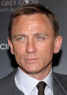 Daniel Craig, the only blond on my list.