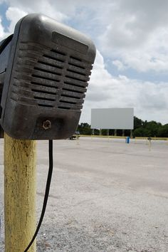 Drive-In speakers.