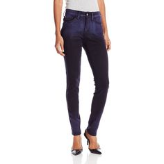 NYDJ Women's Ami Super Skinny Jeans In Novelty Ombre ($38) ❤ liked on Polyvore featuring jeans, denim skinny jeans, denim jeans, 5 pocket jeans, ombre jeans and ombre skinny jeans