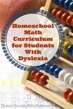 Tips, tricks, curriculum and other resources for teaching math to dyslexic students.