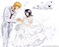 Ichigo x Rukia - Ichigo & Rukia - Sun & Moon - Photo - Fanpop Bleach Ichigo And Rukia, Kuchiki Rukia, Bleach Anime, Bleach Couples, Bleach Fanart, Perfect Couple, Cute Anime Couples, Live Wallpapers, Wedding Couples