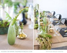 Gold & green table decor| Photo: Wesley Vorster, Styling: Leipzig & Landtscap
