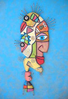Wild Thing Original Found Object Wall Sculpture by FigJamStudio