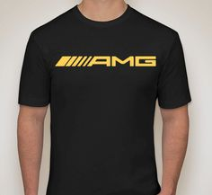Mercedes Benz AMG Black and Gold Crewneck T-Shirt by SmurfStories C Class, Mercedes Benz Amg, Crew Neck, Dads, Mens Tops, Gold, T Shirt, Black, Fashion