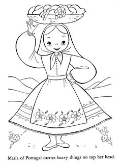 Finally, I have managed to scan and clean the rest of this cute coloring book. Over the next week I will post all of the remaining countries in no particular order. You can find the previously posted countries by clicking on these links: Holland, England-Sweden-Hungary-Czechoslovakia-Austria, Japan-China-India-Burma-Korea-Arabia, and France-Switzerland-Italy-Germany. Click any image for slideshow. [gallery link=file columns=2 size=medium ids=14154,14155,14156,14157,1415... Inside Out Coloring Pages, Easy Coloring Pages, Coloring Books, Sue Sunbonnet, Shopkins Colouring Pages, Graphic Design Portfolio Examples, Flashcards For Kids, Disney Princess Coloring Pages, World Thinking Day