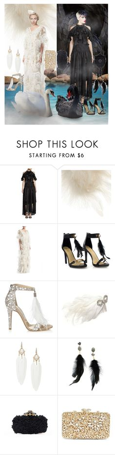 """""""Double Trouble"""" by lullulu ❤ liked on Polyvore featuring Romance Was Born, Phase Eight, Marchesa, Diva Style Squad, Jimmy Choo, Giovannio, Betsey Johnson, Anna Sui, Oscar de la Renta and Trilogy"""