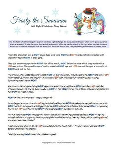 Frosty the Snowman Printable Game