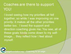 Coaching testimonial from Edge Foundation
