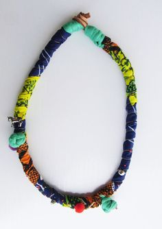 African rope necklace fabric necklace statement jewelry by Jiakuma