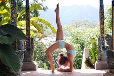 gorgeous #bridgepose in our #kiki shorts and #tula top. #mikayogawear #yoga