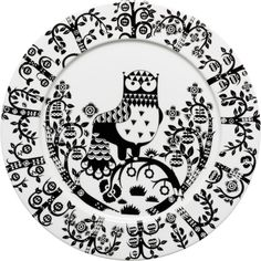 Iittala - Taika Plate 30 cm black - Iittala.com