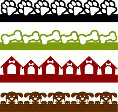 Silhouette Online Store - View Design #60506: dog borders set