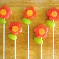 Flower fruit pops, very fun!