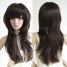 Brown Soft Wave Cosplay Wig|Doll Lolita Cosplay Wig |Brown Soft Wave Doll Lolita Cosplay Wig