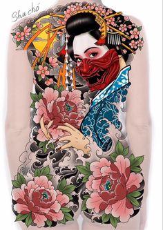 Asian Tattoos, Back Tattoos, Girl Tattoos, Geisha, Samurai, Oriental, Tattoo Designs, Japanese, Collection