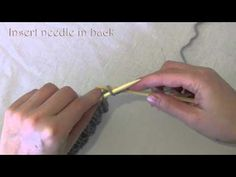 How to Increase Knit Front & Back (KFB) English style - YouTube