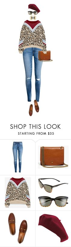 """""""eva1469"""" by evava-c ❤ liked on Polyvore featuring H&M, Madewell, Pull&Bear, Smith, Gucci, San Diego Hat Co. and Aurélie Bidermann"""