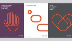 The Branding Source: Landor creates conversational identity for Genesys Corporate Design, Corporate Identity, Identity Design, Brochure Design, Visual Identity, Logo Design, Identity Branding, Branding Ideas, Graphic Design Posters