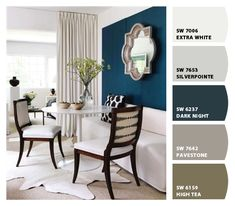Paint colors from Chip It! by Sherwin-Williams. Like the Dark Knight.