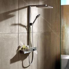 From hand and overhead showers to complete shower systems, hansgrohe offers you everything you need to turn showering into wellness. Hansgrohe Shower Head, Shower Faucet, Boho Bathroom, Master Bathroom, Shower Panels, Steam Showers Bathroom, Shower Systems, Plumbing Fixtures, Dream Bathrooms