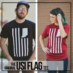 522170895345d USI Flag Tee. Indiana FlagFlag DesignTee ShirtsUnited StatesCatalogT ...