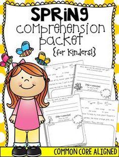 Spring Comprehension printables for #kindergarten #comprehension