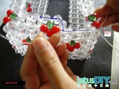 Crystal bead tissue box -----LetusDIY.ORG|DIY Everything here