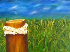 Beach grass 18 X 20 Oil on canvas