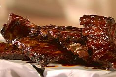 Get Hot Honeyed Spare Ribs Recipe from Food Network