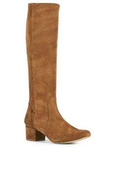 Block Heel 60s Long Boots