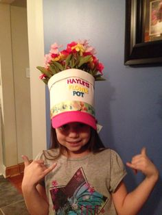 Flower Pot Hat- Crazy Hat Day